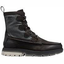 Sorel Men Atlis Caribou Waterproof Black Dove